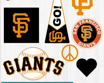 INSTANT DOWNLOAD_San Francisco Giants Cut Files, SVG Files, Baseball Clipart, Cricut Giants Cutting Files, Baseball DXF, Clipart