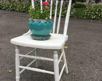 Vintage, Chic, Antique, Distressed, Chalky Paint, Decorative Chair