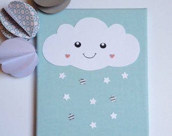 """Frame baby decor, baby """"Little Cloud"""" baby cloud baby room"""