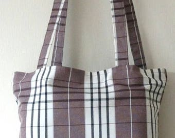 Grey on Grey Tartan Standard Bag, gifts for him, fathers day gift, tote shopper, shopping tote, canvas shopper, canvas tote bag, canvas bag