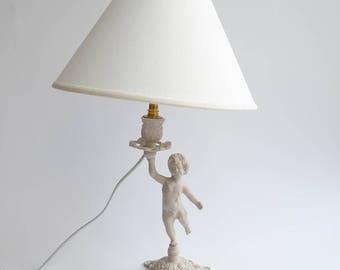 Lamp has put Cherub weathered country chic decor makeover