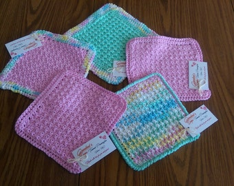 Handmade Cotton Blend  Dishcloth Set