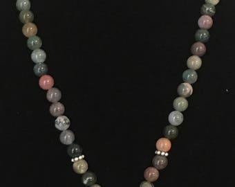 Multi color Beaded Pendant Necklace