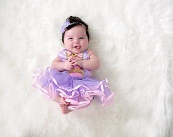 Rapunzel wig newborn halloween costume baby girl halloween