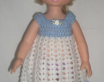 Blue and white outfit for disney animators crochet