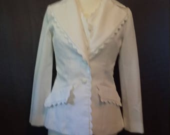 White Jacket and vest with Rickrack