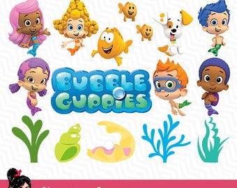 Bubble Guppies, bubble guppies games, bubble guppies clip art, images digital, best cuttable clipart, 72 DPI, guppies party kids, VC-001