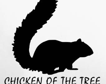 Funny Squirrel Vinyl Decal