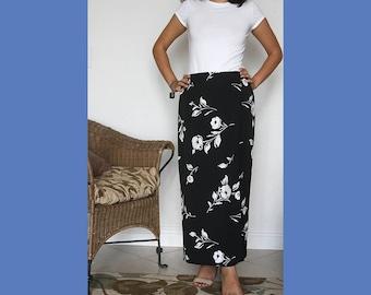 Vintage Talbots Floral Maxi Skirt