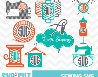 Sewing SVG files, Sewing Monogram, Sewing Clipart, I Love Sewing SVG, Sewing Cut Designs, Seamstress SVG Files, Sewing Machine File, svg-018