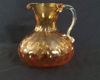 Decorative Amber Glass Pitcher