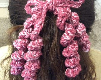 Girls Crocheted Hair Tie- Several Colors Available