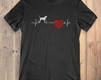 Bluetick Coonhound Dog T-Shirt Gift: Bluetick Coonhound Heartbeat