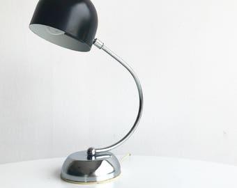 Table lamp in chromed base
