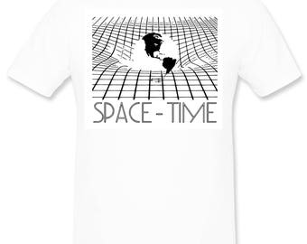 Space Time teeshirt for science lovers