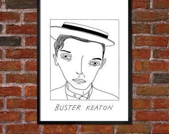 Badly Drawn Buster Keaton - Film / Movie / Cinema Poster
