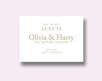 Minimal Invite, Landscape Invitation, Printable Save The Date, Typographic Design