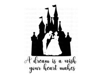 Personalized Disney Cinderella Castle A Dream is a Wish Your Heart Makes iron-on transfer, Disney Family Shirt, Disney Vacation