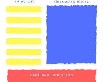 A5 Party Planner/Party organization/Party Planning insert/Birthday Party Planner