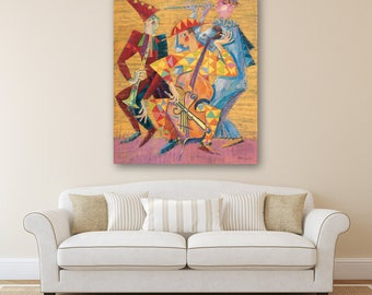 Original oil painting, Giclee Print on Canvas, Large wall art canvas, Modern Art Painting, Painting on Canvas, Original Art, Wall art
