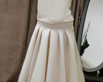 Wedding MIDI skirt has pleats