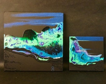 Abstract art - diptych - Mix media
