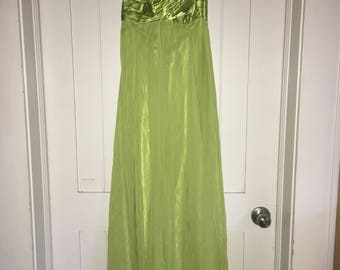 Strapless Lime Empire Gown