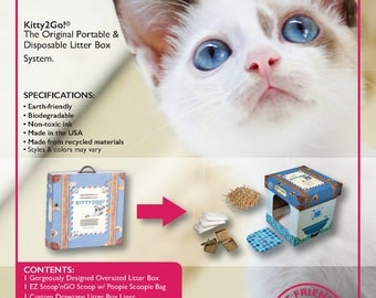Kitty2GO! Portable & Disposable Litter Box System