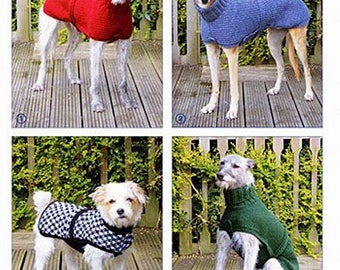 Sandra Polley Knits and Pieces Knitting Patterns : Whippet/Greyhound, Small Dog Coats and Chihuahuas/Very Small Dogs