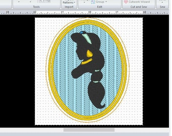 Disney Aladdin Inspired Princess Jasmine Silhouette Embroidered Patch #2 Iron On or Sew On