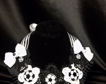 Crochet Girl's Soccer Necklace & Bracelet
