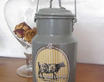 Customized old milk jug