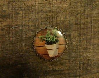 I Flower Pot gift magnet