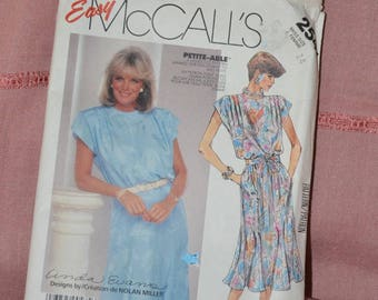 McCall's Easy Dress Pattern 2547 for Linda Evans for formal or office wear. Size 14 and Petite-able
