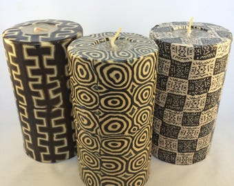 Swazi Candles - Large handmade Fair Trade Pillar Candles from Swaziland