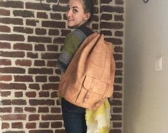 Bohemian bag camel leather (bag seal)