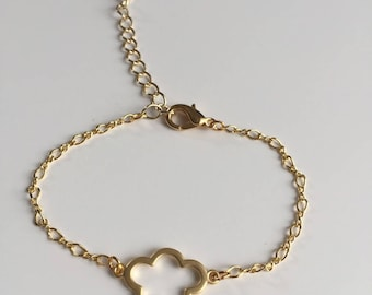 Cloud goldtone bracelet