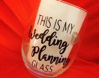 Wedding Planning Glass
