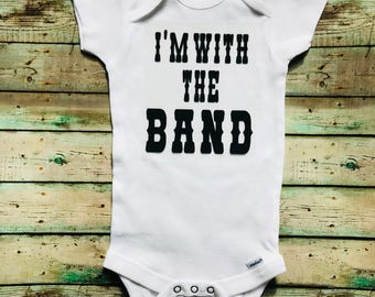 Band baby   I'm With The Band Baby Body Suit   Onesies® by Gerber® Brand   Rock n Roll Body Suit