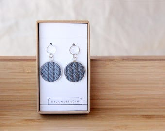 Embroidered earrings which you can choose color more than 50 colors. It is the best gift for everyone!
