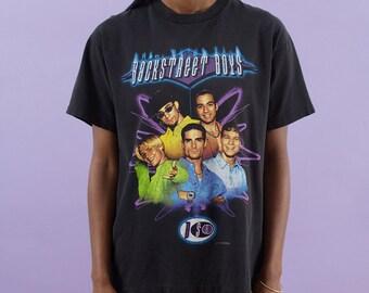 Band Tshirt, Backstreet Boys, 90s Boy Band, Nick Carter, Boy Band, 90s Tshirt, 90s Music, Backstreets Back, Concert, Pop Music, Tour Tshirt