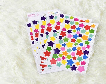 Set of 6 sheets star stickers. Stickers planner