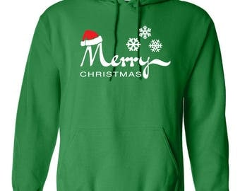 Family Christmas Customizable Merry Christmas Sweatshirts Hoodie Hooded Custom Set Personalized Toddler Holiday Custom Sweater Gift