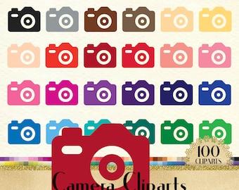 100 Camera Clipart, Camera Digital Clip art, Wedding Clipart, 100 PNG Clipart, Planner Clipart, Instant Download Clipart, 100 Bridal Clipart