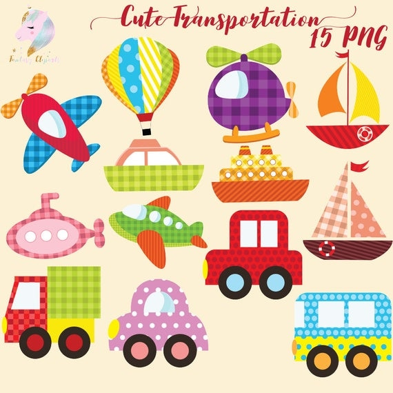 Famous Cute transportation, transport clipart, air transportation, kawaii  SE84