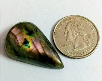 32.65 x 20.40 mm,Pear Shape  Labradorite Cobochon/purple Flash labradorite/voilet flash labradorite/wire wrap stone/Super Shiny/Pendant Cabs