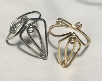 Wire Vagina Ring - Feminist Jewelry - Vulva Ring