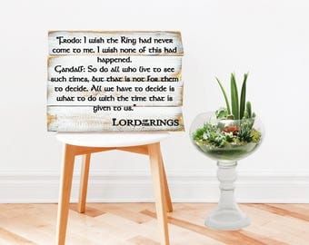 The Hobbit Wood Signs - The Hobbit & Lord of the Rings - Tolkien Quote -Bilbo Baggins - Gift For Her - Gift For Him - Tengwar - Hobbit Gift