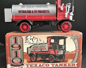 Texaco Collector Truck Coin Bank with Box 1910 MACK Truck Texaco Tanker