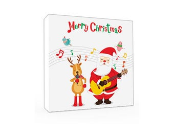 Christmas Gift Canvas Art, Wall Decor Canvas, Gallery Wrap Fine Art, Photography Canvas, wall art, Santa Wall Art